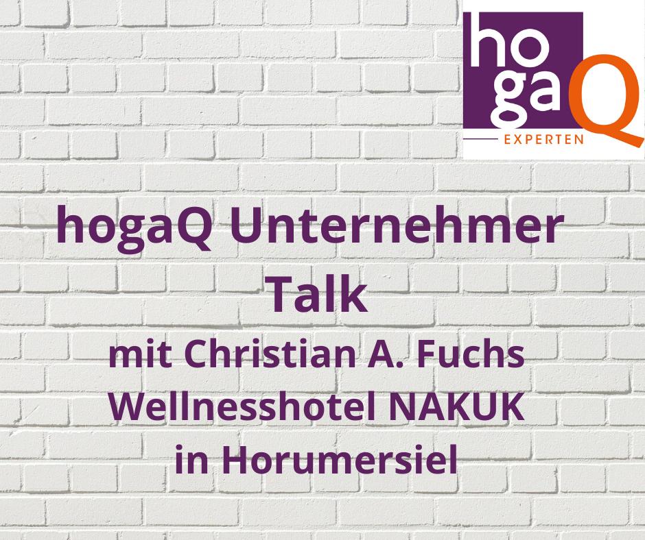 2. Unternehmer Talk mit Christian A. Fuchs